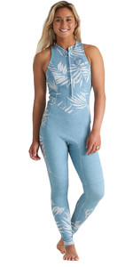 2020 Billabong Dames Salty Jane 2mm Wetsuit Met Front Zip S42G54 - Blauwe Palms