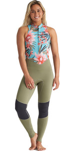 Muta 2020 Billabong Donna Salty Jane 2mm Front Zip S42g54 - Cascata