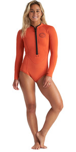 2020 Billabong Dames Salty Dayz 2mm Shorty Wetsuit Met Lange Mouwen S42g57 - Samba
