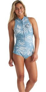 2020 Billabong Frauen Salty Dayz 1mm Ärmel Shorty Anzug S42g58 - Blau Palms