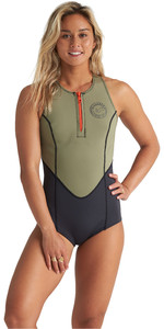 2020 Billabong Shorty Jane 1mm Crossback Spring Wetsuit S41g62 Para Mujer - Aloe