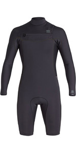 2020 Billabong Herenrevolutie 2mm Wetsuit Met Lange Mouwen En Chest Zip S42M58 - Zwarte Camouflage