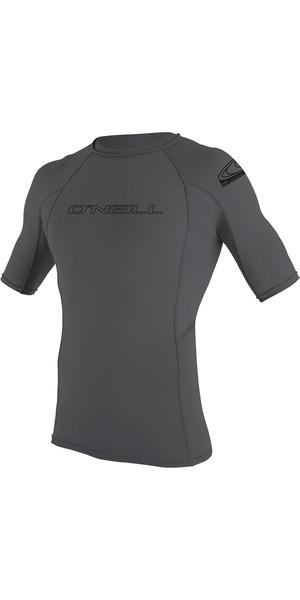 2019 O'Neill Basic Skins Short Sleeve Crew Rash Vest Røg 3341