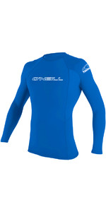 2020 O'Neill Mens Basic Skins Long Sleeve Crew Rash Vest 3342 - Pacific