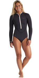 2020 Billabong Dames Eco Salty Dayz 2mm Shorty Wetsuit Met Lange Mouwen S42g53 - Onyx
