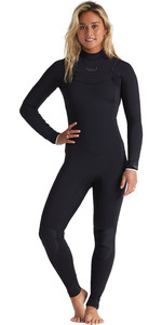 2020 Billabong Vrouwen Eco Salty Dayz 5/4mm Chest Zip Gbs Wetsuit S45g50 - Onyx