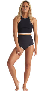 2020 Billabong Damen Eco Sea Crop ärmellose 2mm Neopren Top & Hightide Shorts Kombi-Set - Onyx