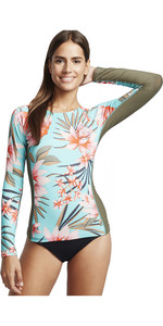 2020 Billabong Surf Capsule Yoke Long Sleeve Rash Vest S4GY13 - Seafoam