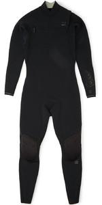 2020 Billabong Mens Black Album Furnace Comp 3/2mm Chest Zip Wetsuit S43M60 - Black