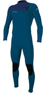 2020 Homens O'Neill Hammer 3/2mm Chest Zip Wetsuit 4926 - Azul / Navy