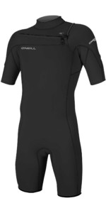 2021 O'Neill Mens Hammer 2mm Chest Zip Spring Shorty Wetsuit 4927 - Black