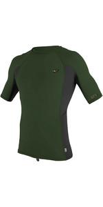 2020 O'Neill Mens Premium Skins Short Sleeve Rash Vest 4169B - Dark Olive
