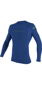 2020 O'Neill Youth Basic Skins Long Sleeve Rash Vest 3346 - Pacific