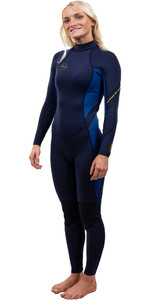 2020 O'Neill Dames Bahia 3/2mm Wetsuit Met Back Zip 5292 - Abyss / Franse Navy