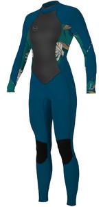 2020 O'Neill Bahia 3/2mm Wetsuit Met Back Zip Dames 5292 - French Navy / Bridget