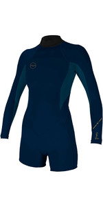 Neopreno 2020 O'neill Para Mujer Bahia 2/1mm Back Zip Y Manga Larga Traje Shorty 5291 - Abyss / French Navy