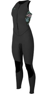 2020 O'Neill Vrouwen Bahia 1.5mm Front Zip Long Jane Wetsuit 4860 - Zwart / Baylen / Dark Olive