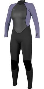 2020 O'Neill Kvinders Reactor Ii 3/2mm Back Zip Wetsuit 5042 - Sort / Tåge