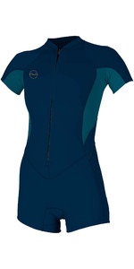 Bahia 2020 Das Mulheres O'Neill 2/1mm Front Zip Shorty Wetsuit 5293 - Abyss / French Navy