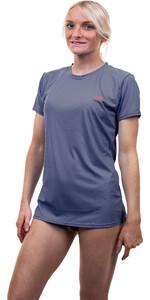 2020 O'Neill Dames Premium Skins Sun Shirt Met Korte Mouwen 5302 - Mist