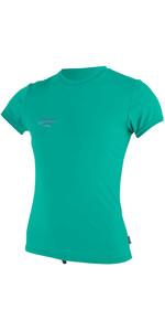 2020 O'neill Camicia Da Sole A Maniche Corte Per Skins Premium 5304 - Verde Baltico