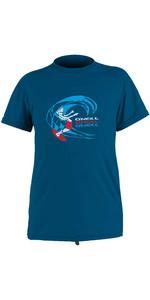 2020 O'neill Bambino O'zone Camicia Da Sole Manica Corta 5325 - Ultra Blu