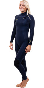 2020 O'Neill Womens Hyperfreak+ 4/3mm Chest Zip Wetsuit 5349 - Abyss
