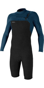 2020 O'Neill Mens Hyperfreak 2mm Chest Zip GBS Long Sleeve Shorty Wetsuit 5004 - Acid Wash / Abyss
