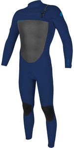 2021 Homens O'Neill Epic 3/2mm Chest Zip Wetsuit 5353 - Navy