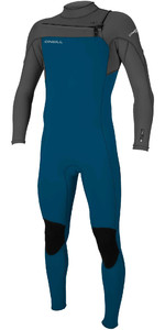 2021 O'Neill Youth Hammer 3/2mm Chest Zip Wetsuit 5412 - Blue / Smoke