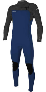 2020 O'Neill Youth Hammer Combinaison Chest Zip 3/2mm Poitrine 5412 - Navy / Lavage Acide