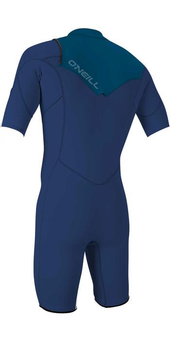 2021 O'neill Jugend Hammer 2mm Chest Zip Shorty Wetsuit 5413 - Navy / Blau