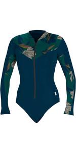 2020 O'neill Damen Langarm Surfanzug Mit Reißverschluss 5408s - French Navy / Bridget