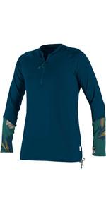 2020 O'Neill Dames Zonne-shirt Met Lange Mouwen En Front Zip 5403S - French Navy / Bridget
