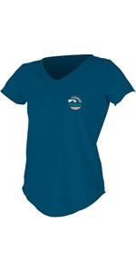 2020 O'Neill Dames Zonne-shirt Met Ronde Hals En Korte Mouwen 5404S - Franse Navy