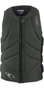 2020 O'neill Slasher Comp Impact Vest 4917eu - Olive Foncé / Noir