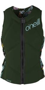 2020 O'Neill Dames Slasher Comp Impact Vest 4938eu - Dark Olive / Baylen