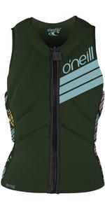 2020 O'Neill Slasher Kite Impact Vest Voor Dames 4943eu - Donker Olive / Baylen