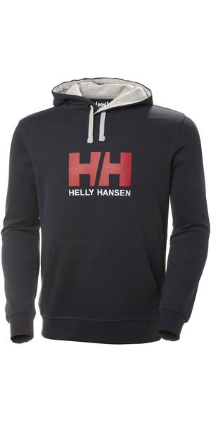 Felpa con cappuccio logo Helly Hansen HH 2019 blu scuro 33977