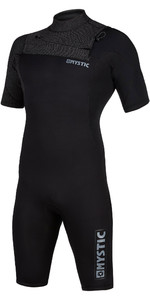 2020 Mystic Mens Marshall 3/2mm Chest Zip Shorty Wetsuit 200061 - Black / Mint