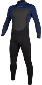 2020 Mystic Herren Brand 3/2mm Back Zip 200066 Wetsuit - Navy