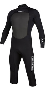 2020 Mystic Mens Brand 3/2mm Long Arm Short Leg Back Zip Wetsuit 200067 - Black