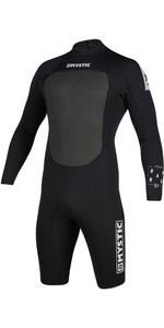 2020 Brand Mystic Homens 3/2mm Manga Comprida De Back Zip Shorty Wetsuit 200069 - Preto
