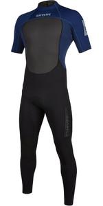 2020 Mystic Des Hommes Brand La Back Zip Navy Brand 3/2mm Manches Courtes Back Zip Combinaison 200068 - Navy