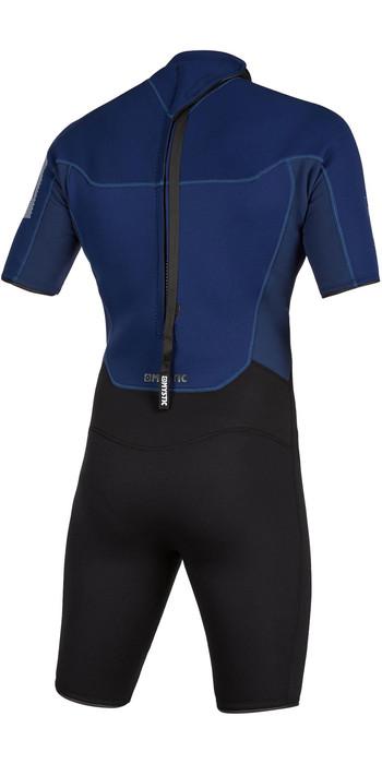 2021 Mystic Herren Brand 3/2mm Back Zip Shorty 200070 Wetsuit - Navy