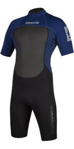 2020 Mystic Dos Homens Brand 3/2mm Back Zip Shorty Wetsuit 200070 - Navy