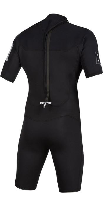 2021 Mystic Herren Brand 3/2mm Back Zip Shorty Wetsuit 200070 - Schwarz
