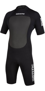 2021 Mystic De Los Hombres Brand 3/2mm Back Zip Shorty Wetsuit 200070 - Negro
