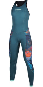 2020 Mystic Dames Diva 2mm Back Zip Long Jane Wetsuit 200073 - Groenblauw