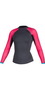 2020 Mystic Womens Diva 2mm Long Sleeve Neoprene Top 200075 - Phantom Grey